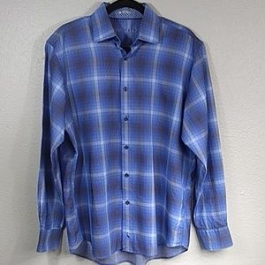 Tailorbyrd mens  classic fit button up shirt